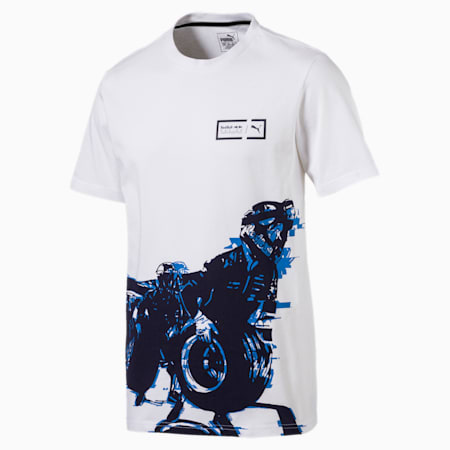 Red Bull Racing Men's Graphic Tee, Puma White, small-IND