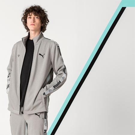 PUMA x DIAMOND Men's Track Jacket, Puma White, small