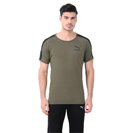 Men's T7 Slim Cut T-Shirt, Olive Night-black, small-IND