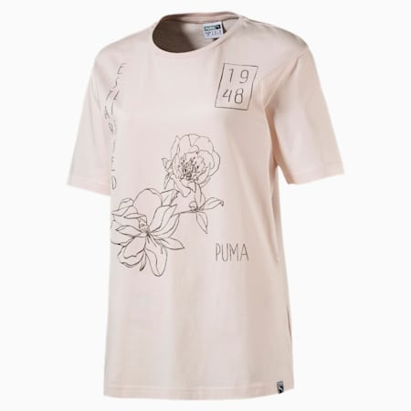 Women's Graphic T-shirt, Pearl, small-IND