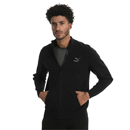 Men's T7 evoKnit Jacket, Puma Black, small-IND
