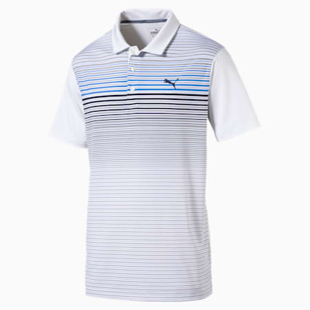 Highlight Stripe Polo Shirt, marina, small-SEA
