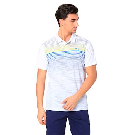Highlight Stripe Polo Shirt, lemon tonic, small-SEA