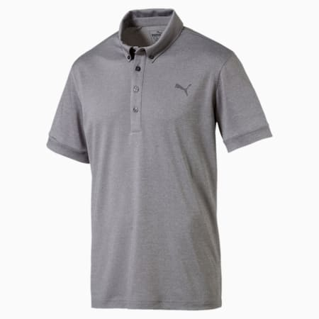 Golf Men's Tailored Oxford Heather Polo, QUIET SHADE Heather, small-SEA