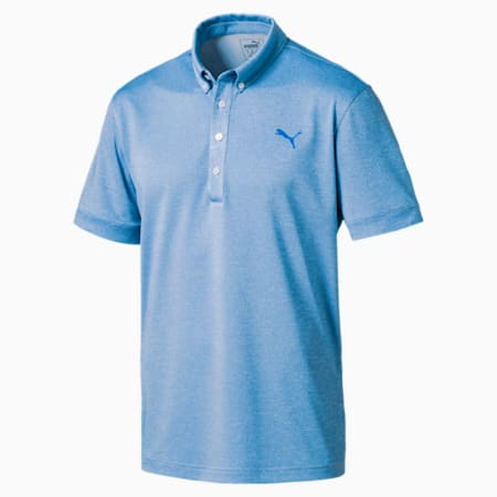 Golf Men's Tailored Oxford Heather Polo, EBL Heather, small-IND