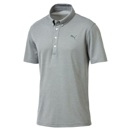 Golf Men's Tailored Oxford Heather Polo, Laurel Wreath Heather, small-IND