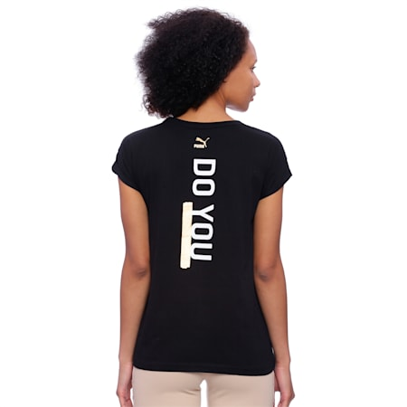 Do You Women's Tee, Cotton Black, small-IND