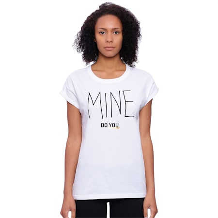 Do You Women's Tee, Puma White, small-IND