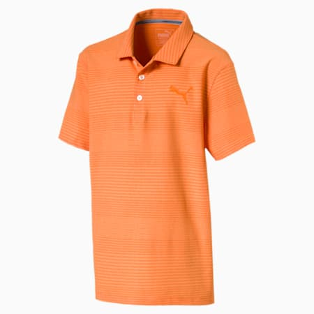 Aston Boys' Golf Polo, Vibrant Orange, small-SEA