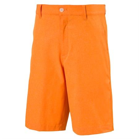 Heather Pounce Woven Boys' Golf Shorts, Vibrant Orange, small-SEA