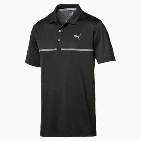Golf Men's Nardo Grey Polo, Puma Black, small-IND