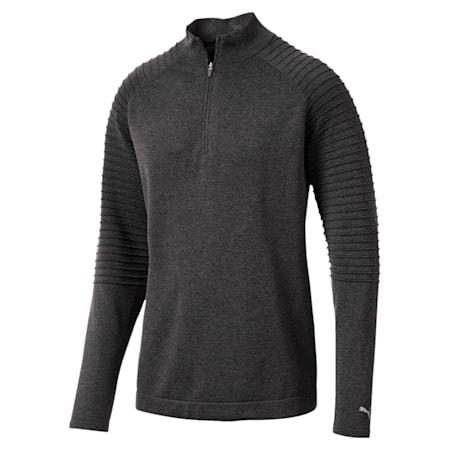 Golf Men's evoKNIT Performance 1/4 Zip Sweater, Puma Black, small-IND