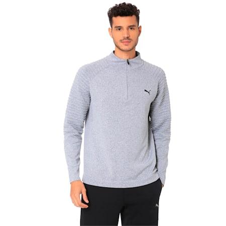 Golf Men's evoKNIT Performance 1/4 Zip Sweater, Quarry, small-IND