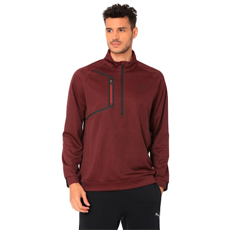 Golf Men's Envoy 1/4 Zip Sweater, Pomegranate, small-IND