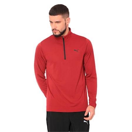 Golf Men's evoKNIT Essential 1/4 Zip Sweater, Pomegranate, small-IND
