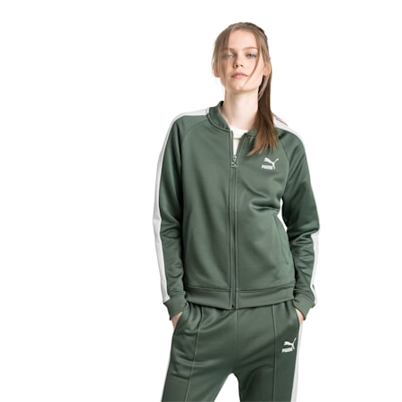 Classics Women's T7 Track Jacket, Laurel Wreath, small-IND