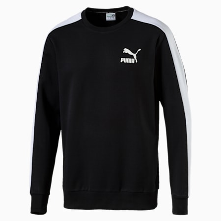 Classics Men's T7 Logo Sweater, Puma Black, small-IND