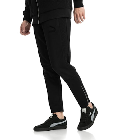 Archive Retro Quilted Men's Sweatpants, Puma Black, small-IND