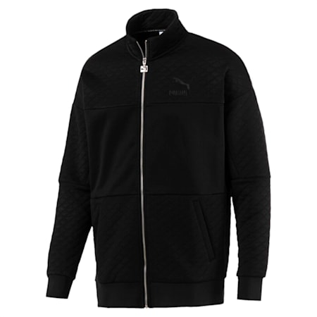 Archive Retro Quilted Zip-Up Men's Sweat Jacket, Puma Black, small-IND