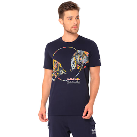Red Bull Racing Double Bull Men's T-Shirt, NIGHT SKY, small-IND