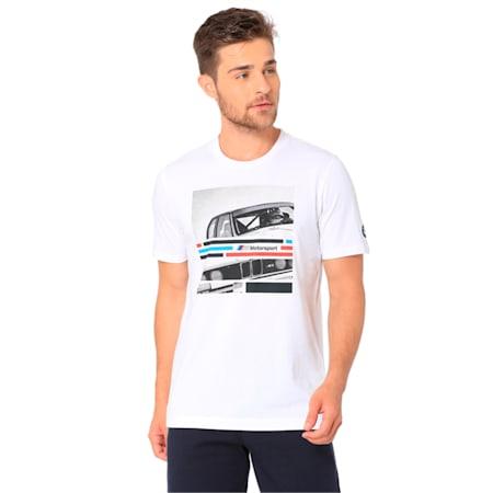 BMW M Motorsport Men's Graphic Tee, Puma White, small-IND