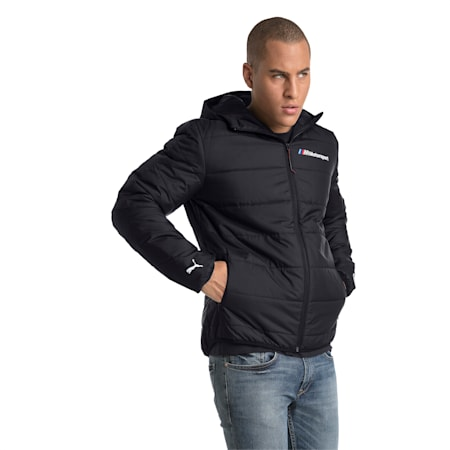 BMW M Motorsport Men's T7 Lightweight Padded Jacket, Anthracite, small