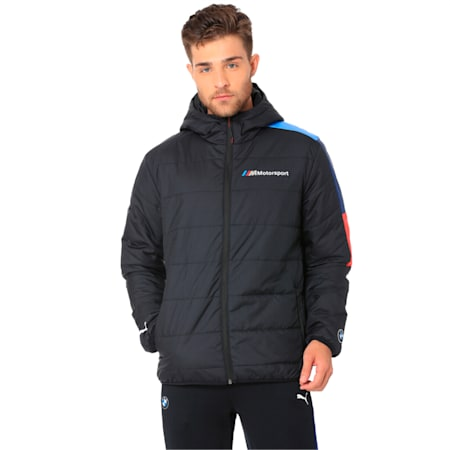 BMW M Motorsport Men's T7 Lightweight warmCELL Padded Jacket, Anthracite, small-IND