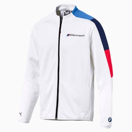 BMW M Motorsport Men's T7 Track Jacket, Puma White, small-IND