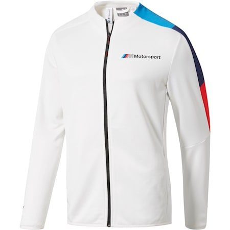 BMW M Motorsport Men's T7 Track Jacket, Puma White, small