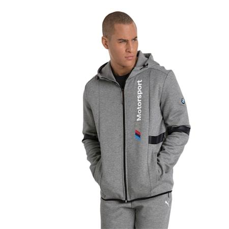 BMW Zip-Up Men's Hoodie, Medium Gray Heather, small-IND