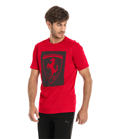 Ferrari dryCELL Big Shield Men's T-Shirt, Rosso Corsa, small-IND