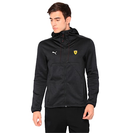 Ferrari Men's Street Softshell Jacket, Puma Black Heather, small-IND