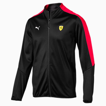 Ferrari Men's T7 Track Jacket, Puma Black, small-SEA
