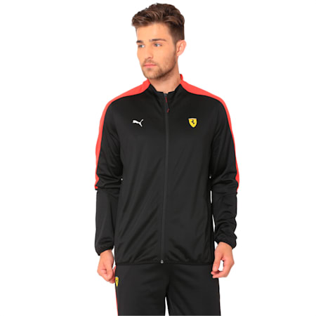 Ferrari Men's T7 Track Jacket, Puma Black, small-IND