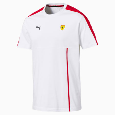Ferrari dryCELL Men's T7 T-Shirt, Puma White, small-IND