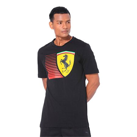 Ferrari Men's Big Shield T-Shirt, Puma Black, small-IND