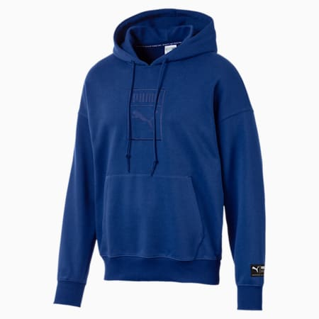 Downtown Oversize Men's Hoodie, Sodalite Blue, small