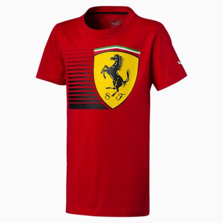 Ferrari Kids' Big Shield T-Shirt, Rosso Corsa, small-IND