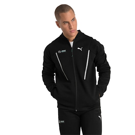 MERCEDES AMG PETRONAS Men's Sweat Jacket, Puma Black, small
