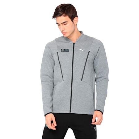 MERCEDES AMG PETRONAS Men's Sweat Jacket, Medium Gray Heather, small-IND