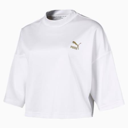 Retro Women's Crop Top, Puma White, small-SEA