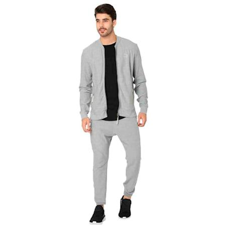 PUMA x Virat Kohli Men's Sweat Jacket, Medium Gray Heather, small-IND
