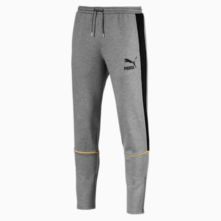Retro Double Knit Men's Sweatpants, Medium Gray Heather, small