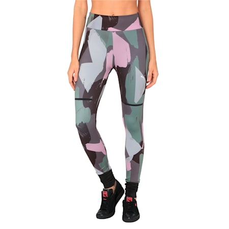 Chase All-Over Print Women's Leggings, Iron Gate, small-IND