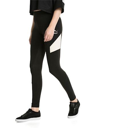 Retro Women's Leggings, Puma Black, small