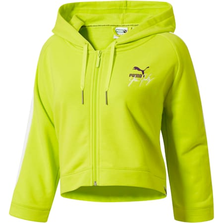 PUMA x YES JULZ FZ HOODIE, Nrgy Yellow, small