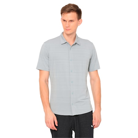 Breezer Short Sleeve Men's Golf Shirt, Quarry, small-IND