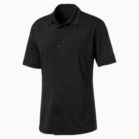 Breezer Short Sleeve Men's Golf Shirt, Puma Black, small-SEA