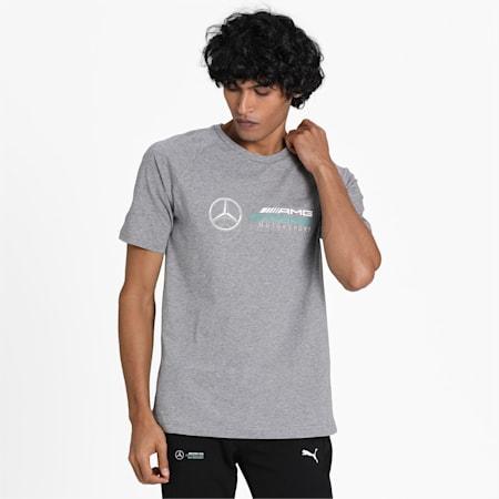 Mercedes AMG Petronas dryCELL Men's Logo T-Shirt, Medium Gray Heather, small-IND