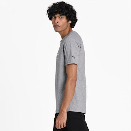 MERCEDES AMG PETRONAS Men's Logo T-Shirt, Medium Gray Heather, small-SEA